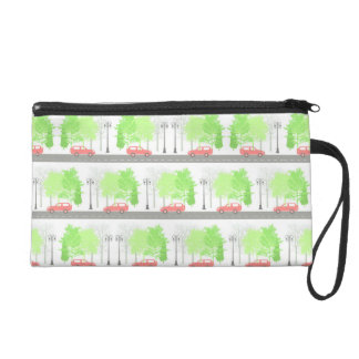 Cars and trees wristlet
