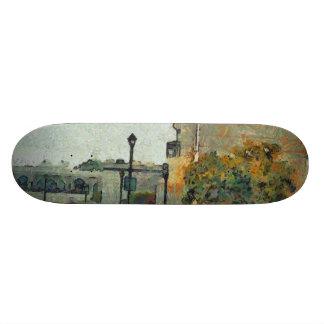 Cars in a residential neighbourhood 21.6 cm old school skateboard deck