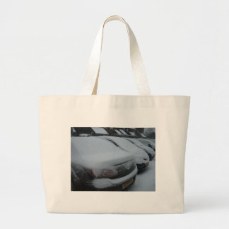 Cars in snow bags