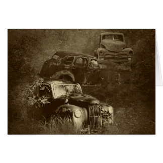 cars in the jungle horizontal card