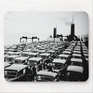 Cars Loaded onto Freighter Mouse Pad