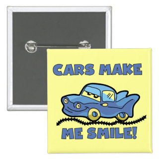 Cars Make Me Smile T-shirts and Gifts Pins