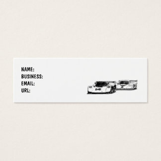Cars - Race - Skinny - Customized Mini Business Card