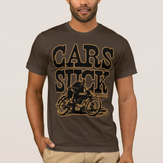 Cars Suck (vintage blk & gold) T-Shirt