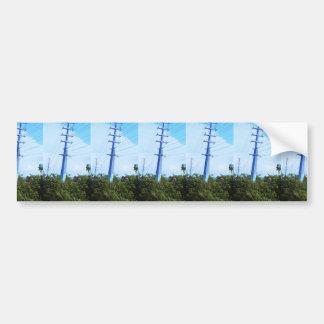 Cars Traffice Bridge Green Trees Template DIY GIFT Bumper Sticker