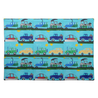 Cars, Trucks and Trains by William Placemat