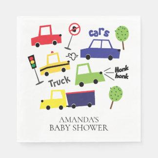 Cars & Trucks Boys Baby Shower Paper Napkins Disposable Napkin