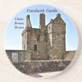 Carsluith Castle -- Clan Broun/Brown Coaster