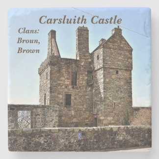 Carsluith Castle -- Clan Broun/Brown Stone Coaster