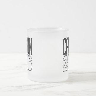 Carson 2016 Bold 10 Oz Frosted Glass Coffee Mug