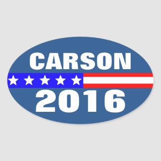 Carson 2016 Presidential Election Campaign Oval Sticker