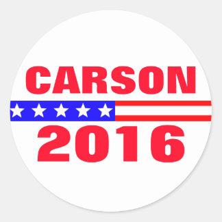 Carson 2016 Presidential Election Campaign Round Sticker
