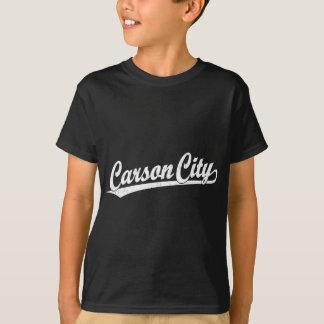 Carson City script logo in white T-Shirt