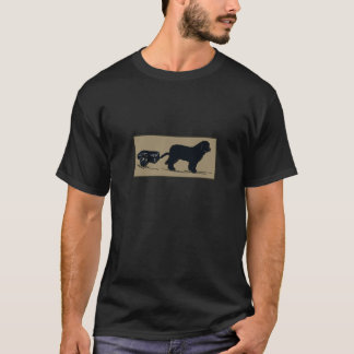 Cart Pulling Newfoundland Dog Tee