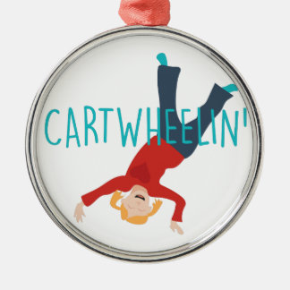 Cart Wheelin Metal Ornament