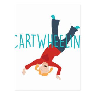 Cart Wheelin Postcard