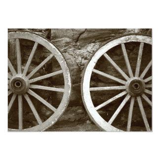 Cart wheels card