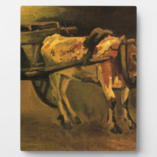 Cart with Red and White Ox by Vincent van Gogh Display Plaques