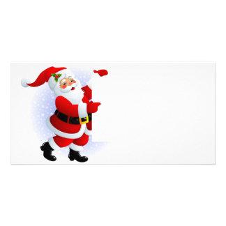 """Cartão para foto """"Papai Noel"""" Cartão Com Fotos Personalizado"""