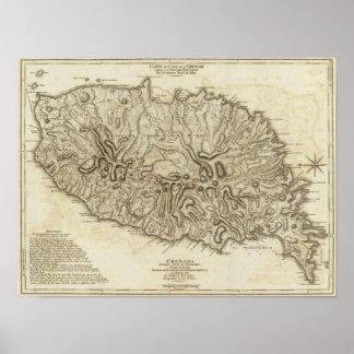 Carte de l'Isle de la Grenade Poster
