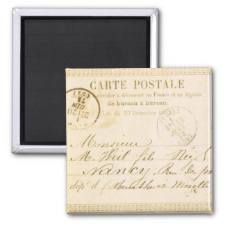 Carte Postale Square Magnet