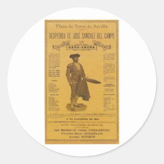 Cartel para la despedida del torero - Seville Classic Round Sticker