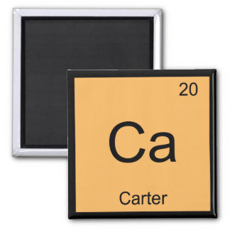 Carter Name Chemistry Element Periodic Table Square Magnet