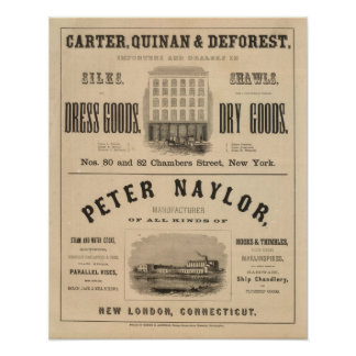Carter, Quinan and Deforest Peter Naylor Poster
