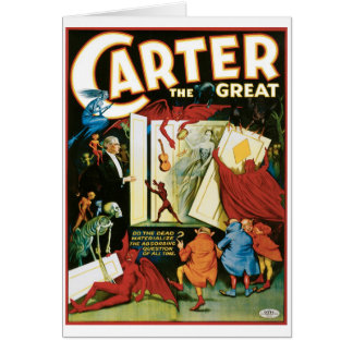 Carter The Great ~ Do The Dead Materialize? Note Card