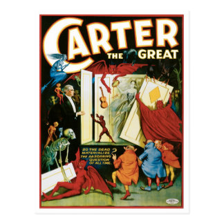 Carter The Great ~ Do The Dead Materialize? Postcard