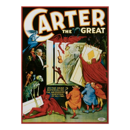 Carter The Great ~ The Dead Vintage Magic Act Print