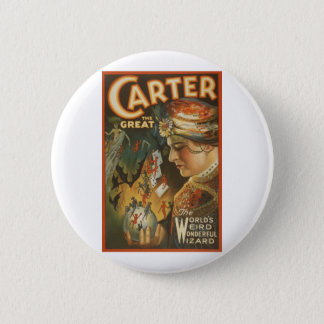 Carter the Great - The World's Weird Wizard 6 Cm Round Badge