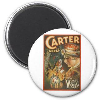 Carter the Great - The World's Weird Wizard Refrigerator Magnets