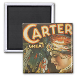 Carter the Great - The World's Weird Wizard Square Magnet