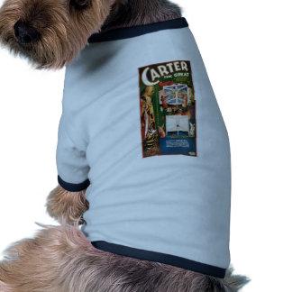 Carter The Great ~ Weird Wizard Vintage Magic Act Doggie Tee Shirt