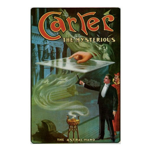 Carter The Mysterious ~  Vintage Magic Act Posters