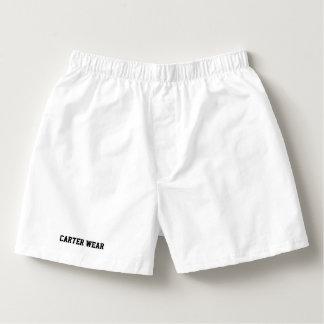 Carter Wear - Men's Cotton Boxers - White