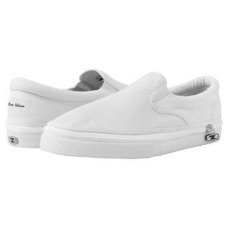 Carter Wear - Zipz Slip On Shoes - White