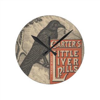 Carter's Little Liver Pills Ephemera Round Clock