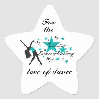 "Cartesion ""For the Love of Dance"" Star Sticker"