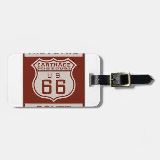 Carthage Route 66 Bag Tag