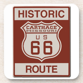 Carthage Route 66 Beverage Coaster