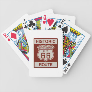 Carthage Route 66 Bicycle Playing Cards