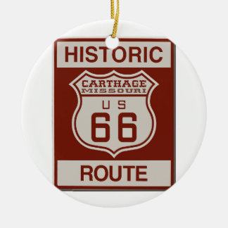 Carthage Route 66 Ceramic Ornament