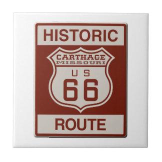 Carthage Route 66 Ceramic Tile