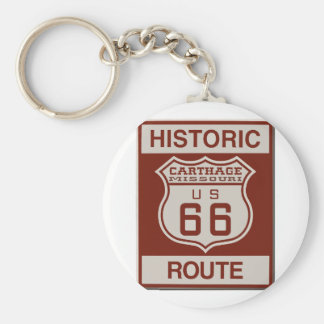 Carthage Route 66 Key Ring
