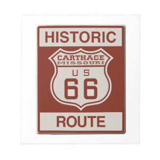 Carthage Route 66 Notepad