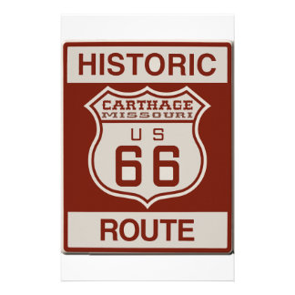 Carthage Route 66 Personalized Stationery