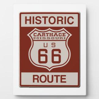 Carthage Route 66 Plaques