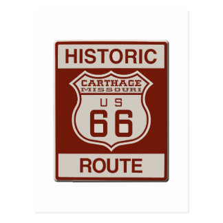 Carthage Route 66 Postcard